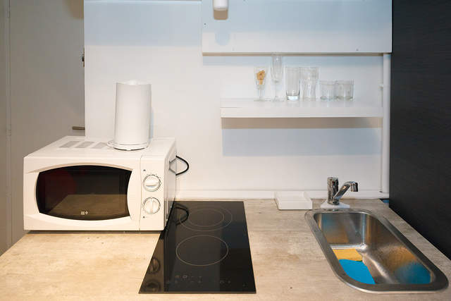 Small, but fully-equipped kitchen - Apartment Saint-Denis2